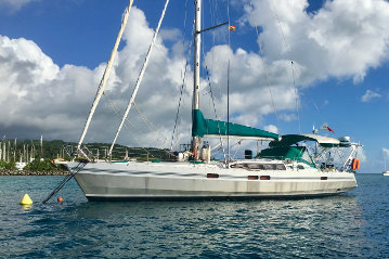 Ovni 455 aluminium sailboat for sale in Tahiti