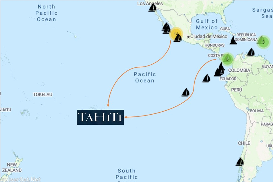 2019 cruising boats heading into the South Pacific