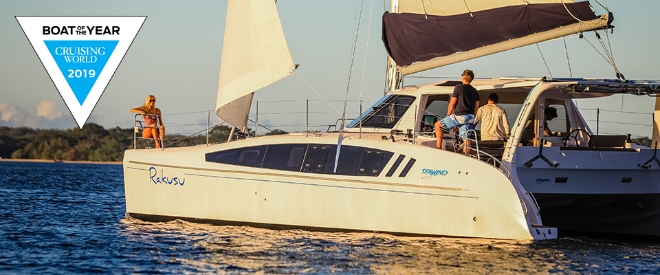 Seawind Catamarans available in French Polynesia, leaving from any port in the Pacific