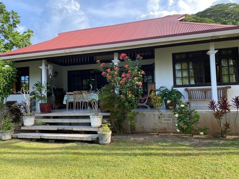 A house to ourselves in Raiatea French Polynesia