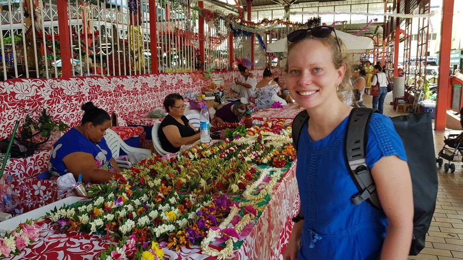 Market in Papeete Tahiti French Polynesia