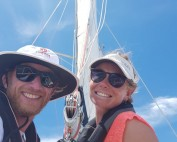 sailing around Tahaa island in French Polynesia