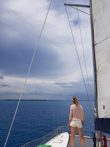 sailing in fakarava atoll