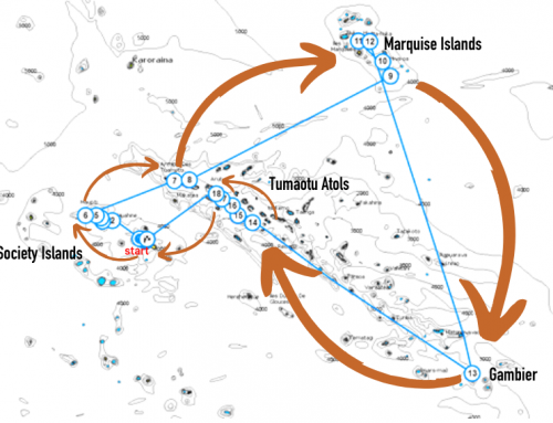 Itineraire : une année sabbatique en Polynésie