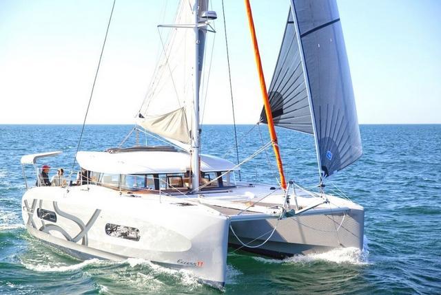 Excess 11 Catamaran with gennaker