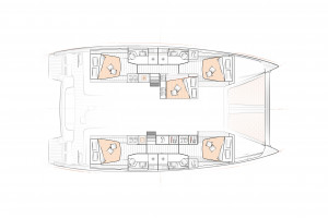Excess 15 Catamaran Layouts - French Polynesia