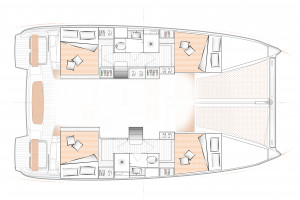 Excess 11 4-cabin version Layout