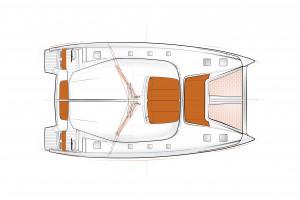 Excess 15 Catamaran Layouts - French Polynesia