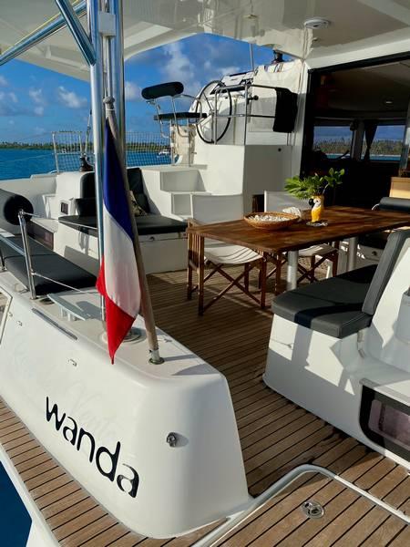 Lagoon 42 family cruising catamaran for sale in Tahiti