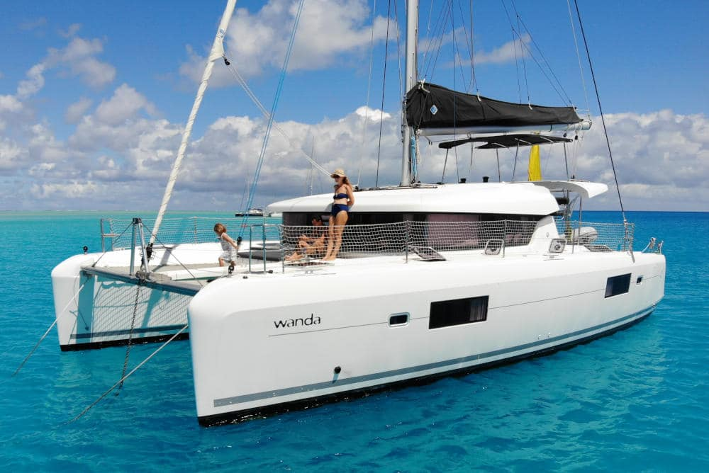 Lagoon 42 2017 family cruising catamaran for sale in Tahiti