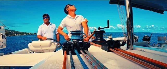 Sailing the Excess 15 performance catamaran