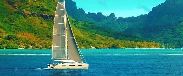 Excess 15 performance cruising catamaran in Moorea
